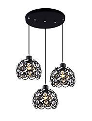 Max 60W Modern Crystal / Mini Style Painting Metal Pendant LightsLiving Room / Bedroom / Dining Room / Kitchen