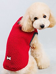 Cat Dog Sweater Vest Dog Clothes Winter Spring/Fall Solid Casual/Daily Keep Warm Red Blue