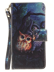 Painted Owl Pattern Card Can Lanyard PU Phone Case For Huawei P9 Lite P9 P8 Lite