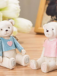 Cute Joint Bear Marriage Room Ornaments(Random Colors)