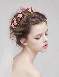MISS DIVA Women's Tulle Headpiece Headbands 1 Piece Pink Flower 28