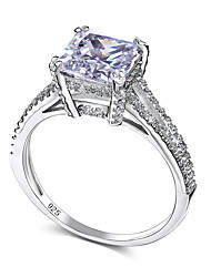 Fashion 925 Sterling Silver Rings Cubic Zircon Brand New Gift For Women Wedding Bridal Jewelry