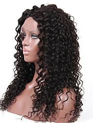 encaracolados peruca de cabelo humano de 130% peruca dianteira do laço densidade de 10-28 polegadas solta brasileiro virgem com cabelo do