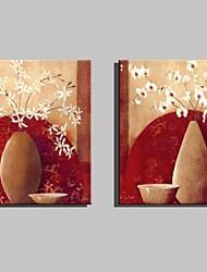 Натюрморт / ботанический Холст для печати 2 шторы Готовы повесить , Вертикальная
