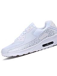 Men's Sneakers Spring / Fall Comfort Tulle Athletic Flat HeelBlack / White Walking / Running