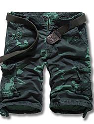 Short Pour des hommes Camouflage Décontracté / Sport Coton Marron / Vert