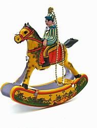 the horse Wind-up Toy Leisure Hobby  Metal Yellow For Kids