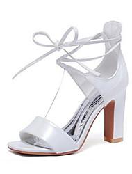 Damen-High Heels-Lässig-PU-Blockabsatz-Absätze-Schwarz / Rosa / Weiß