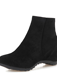 Women's Boots Winter Motorcycle Boots / Bootie Dress Wedge Heel Zipper Black / Blue / Beige / Orange Others