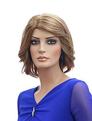 blond couleur court perruques ondes capless perruques synthétiques pour les femmes