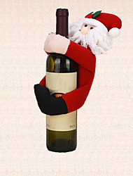 1pc Christmas Table Decoration Santa Claus Wine Bottle Cover Towel Holder Decor Home Party