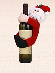 tableau 1pc décoration de Noël le père noël porte couvercle de la bouteille de vin de serviette de décoration parti