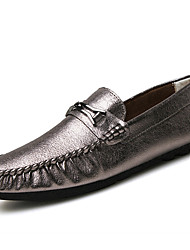 Men's Loafers & Slip-Ons Spring/Summer/Fall/ Winter Moccasin Pigskin Office & Career / Casual Black/Green/Gray