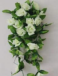 1 Une succursale Polyester Plastique Roses Guirlande et Fleur Murale Fleurs artificielles 240(94.4'')
