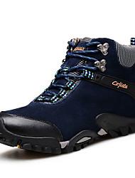Men's Sneakers Fall Winter Comfort Suede Outdoor Flat Heel Lace-up Blue Brown Khaki Hiking