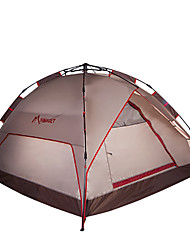 HIMAGET 3-4 personnes Tente Triple Tente automatique Une pièce Tente de camping >3000mm Aluminium Oxford Taffetas en PolyesterRésistant à