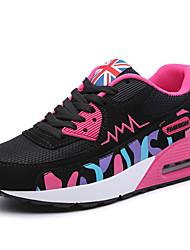 Da donna-Sneakers-Tempo libero Sportivo-Comoda-Piatto-Tulle-Rosa Viola
