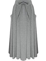 Jupes Aux femmes Maxi simple Rayonne Micro-élastique