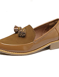 Women's Loafers & Slip-Ons Fall Comfort / Round Toe Suede Casual Flat Heel Tassel Black / Brown Others