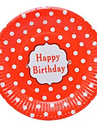 "Birthday Party Tableware-10Piece/Set Paper Plates Tag 100% virgin pulp Classic Theme 2"" Circle Non-personalised"