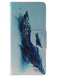 Pour Coque Huawei P9 Lite P8 Lite Porte Carte Portefeuille Antichoc Etanche à la Poussière Avec Support Coque Coque Intégrale Coque Plume