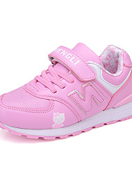 Girl's Athletic Shoes Spring Fall Comfort Synthetic Casual Flat Heel Magic Tape Pink Purple Red