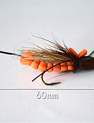 """500 pcs Mouches Orange 5 g/1/6 Once,60 mm/2-1/3"""" pouce,Plastique souple Pêche d'appât"""
