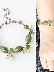 Femme Bracelets de rive Alliage Mode Simple Style Forme de Feuille Vert Bijoux 1pc