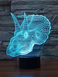 dinoszaurusz érintés tompítása 3D LED éjszakai fény 7colorful dekoráció hangulat lámpa újdonság világítás karácsonyi fény