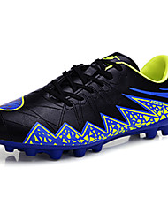 Men's Shoes PU Athletic Athletic Shoes Athletic Soccer Flat Heel Lace-up Black / Blue / Red / Silver