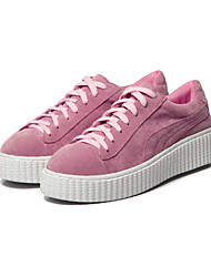 Women's Flats  Comfort / Round Toe / Closed Toe  Casual Flat Heel Lace-up Pink / White Walking