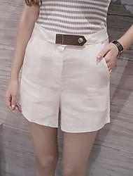 Women's Solid Multi-color Shorts Pants,Simple