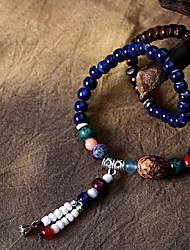 Women's Circle Blue Ceramic Wrap Bracelets 1pc