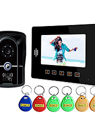 Touch The Waterproof ID Card 7 Inch Visual Doorbell