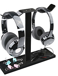 Acrylic Headphone Hanger Universal Headphone Stand Gadget Holder - Black