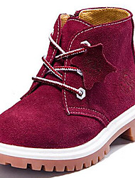 Boys' Shoes Outdoor / Athletic / Casual Suede Boots Spring / Fall / Winter Combat Boots Lace-up Red