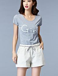Damen Hose - Einfach Kurze Hose Kunstseide Unelastisch