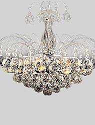 Max 60W Contemprâneo Cristal Galvanizar Lustres Sala de Estar / Quarto / Sala de Jantar