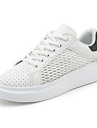женская обувь тюль весна / осень Комфорт спортивные туфли случайный клин пятки шнуровке серебро