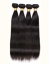 200g de cabelo humano em linha reta cabelo virgem peruano 4pcs tece preto natural peruano cabelo reto 8-26 polegadas
