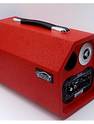 Red 8-Inch Long Section Octagonal Active Speaker Car Subwoofer 12-24V speakers