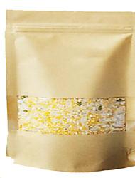 sacos de chá kraft papel kraft sacos janela ziplock de auto-suficiência em sacos de embalagem de alimentos da mancha nozes um pacote de