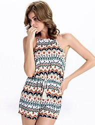 Women's Print Jumpsuits,Sexy Strap Sleeveless