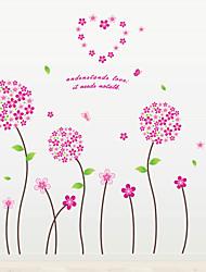 Floral Stickers muraux Stickers avion Stickers muraux décoratifs,PVC Matériel Amovible Décoration d'intérieur Wall Decal