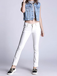 Pantalon Aux femmes Slim simple Coton Elastique
