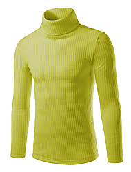 Men's Fashion Turtlenecks Solid Casual Slim Fit Knitting Pullover Sweater;Causal/Solid/Outdoor