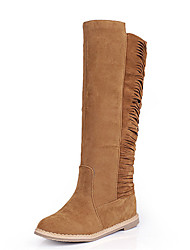 Women's Shoes Flat Heel Round Toe Tassel Knee High Boot More Color Available