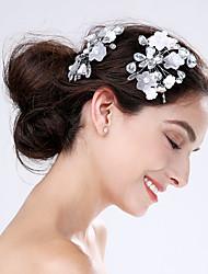 Femme Acrylique Plastique Casque-Mariage Occasion spéciale Fleurs 2 Pièces