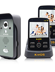 KiVOS KDB300 Wireless Intercom Household Visual Doorbell with Surveillance Video Unlock