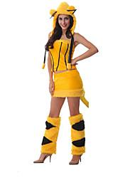 Kostüme Tierkostüme Halloween Gelb einfarbig Terylen Top / Rock / Mehre Accessoires